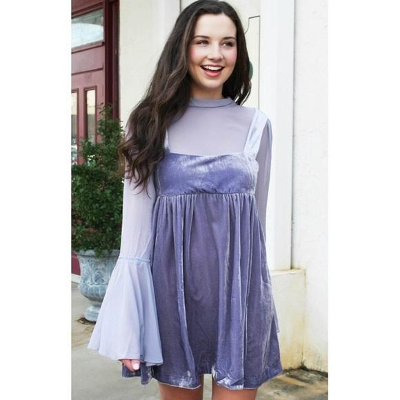 1ca5ac0bb5c Free People Dresses   Skirts - SALE🔥 Free People Velvet Babydoll Dress